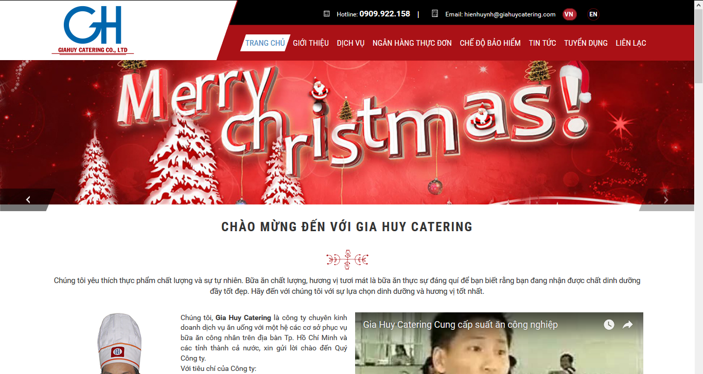 Website giới thiệu Gia Huy Catering